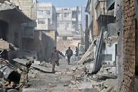 Dans la ville rebelle de Mesraba, dans le quartier de la Ghouta orientale. ©