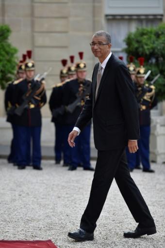 L'homme d'affaires franco-béninois Lionel Zinsou, alors Premier ministre du Bénin, à Paris le 11 juillet 2016 © Eric FEFERBERG                       AFP/Archives