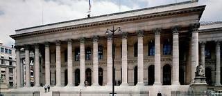 Vue de la facade de la Bourse réalisée par l'architecte Alexandre Théodore Brongniart (1739-1813) à Paris (illustration).