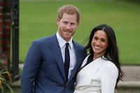 Le prince Harry et l'actrice américaine Meghan Markle au palais de Kensington après l'annonce de leurs fiancailles.