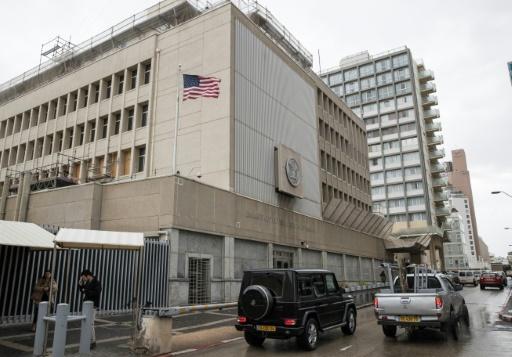 L'ambassade des Etats-Unis à Tel-Aviv, le 6 décembre 2017 © JACK GUEZ AFP