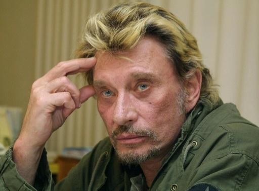 Johnny Hallyday le 24 novembre 2003 à Nice © JACQUES MUNCH AFP/Archives