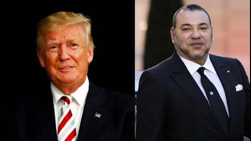 Le président Donald Trump et le roi Mohammed VI ©  DR