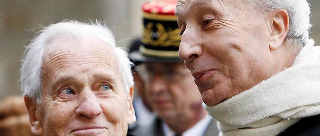 Habits verts. Le 29 janvier 2007, Jean d'Ormesson etMarc Fumaroli rendent hommage àl'académicien Jean-François Deniau, décédé le24janvier.