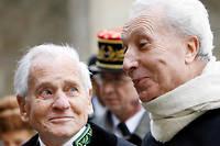 Habits verts. Le 29 janvier 2007, Jean d'Ormesson etMarc Fumaroli rendent hommage àl'académicien Jean-François Deniau, décédé le24janvier. ©BERTRAND GUAY/AFP