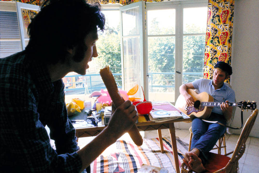 Johnny Hallyday avec Long Chris
