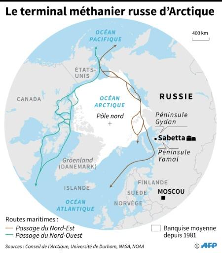 Le terminal méthanier russe d'Arctique © AFP  AFP
