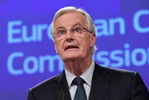 Le négociateur en chef de l'UE Michel Barnier s'exprime lors d'une conférence de presse à Bruxelles, le 8 décembre 2017 © EMMANUEL DUNAND AFP