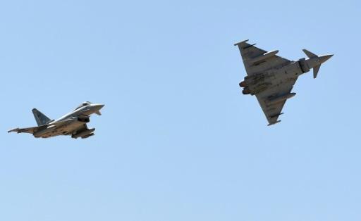 Des avions de chasse Typhoon  © FAYEZ NURELDINE AFP/Archives