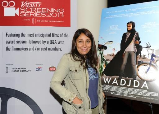 "La réalisatrice saoudienne Haifaa al-Mansour présente son film ""Wadjda"" à Hollywood le 12 novembre 2013 © ANGELA WEISS GETTY IMAGES NORTH AMERICA/AFP/Archives"
