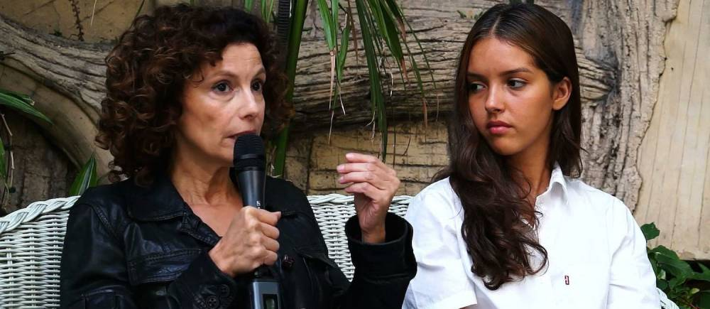 Nadia Kaci et Lyna Khoudri : les deux actrices du film Les Bienheureux.  ©  Le Point Afrique