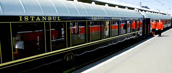 Le train de luxe touristique l'Orient Express, ici à Moscou.