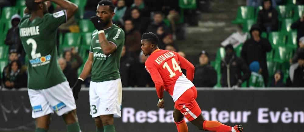 Keita Baldé a inscrit le 4e but monégasque face à l'ASSE.