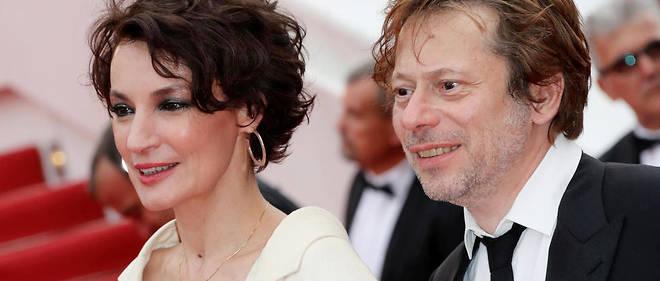 Jeanne Balibar et Mathieu Amalric présentent le film « Barbara » à Cannes, le 18 mai 2017.