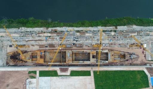 Un chantier naval chinois construit une copie grandeur nature du Titanic, avec une partie des intérieurs de l'original et du wifi, photographiée le 14 septembre 2017 © STR AFP/Archives