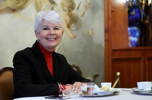 L'ancienne Première ministre de croatie Jadranka Kosor lors d'un entretien avec l'AFP, le 11 décembre 2017 à Zagreb © STR AFP