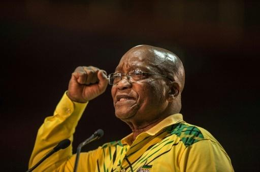 Le président sud-africain Jacob Zuma au congrès de l'ANC le 16 décembre 2017 à Johannesburg © MUJAHID SAFODIEN AFP
