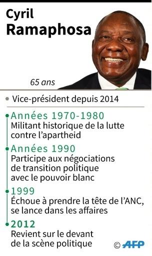 Cyril Ramaphosa, candidat à la présidence du Congrès national africain (ANC), au pouvoir depuis 1994 en Afrique du Sud. © Jean Michel CORNU AFP