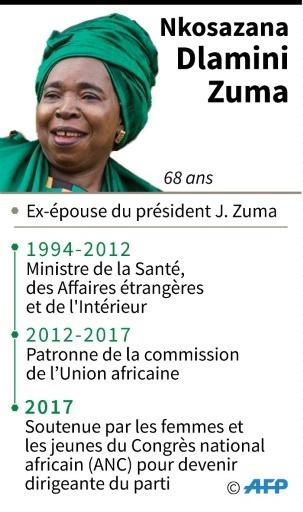 Nkosazana Dlamini Zuma, 68 ans, candidate à la succession de son ex mari Jacob Zuma, à la tête du Congrès national africain (ANC), au pouvoir depuis 1994 en Afrique du Sud. © Jean Michel CORNU AFP
