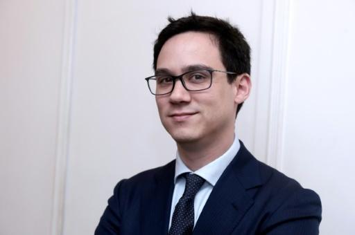 """Fabien Lehagre, président de l'""""Association des Américains accidentels"""", à Paris, le 7 décembre 2017  © ERIC PIERMONT AFP"""