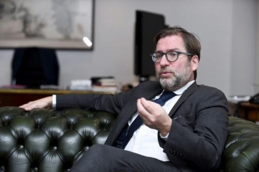 """Patrice Spinosi, avocat de l'""""Association des Américains accidentels"""", lors d'une interview à l'AFP, le 7 décembre 2017 © ERIC PIERMONT AFP"""