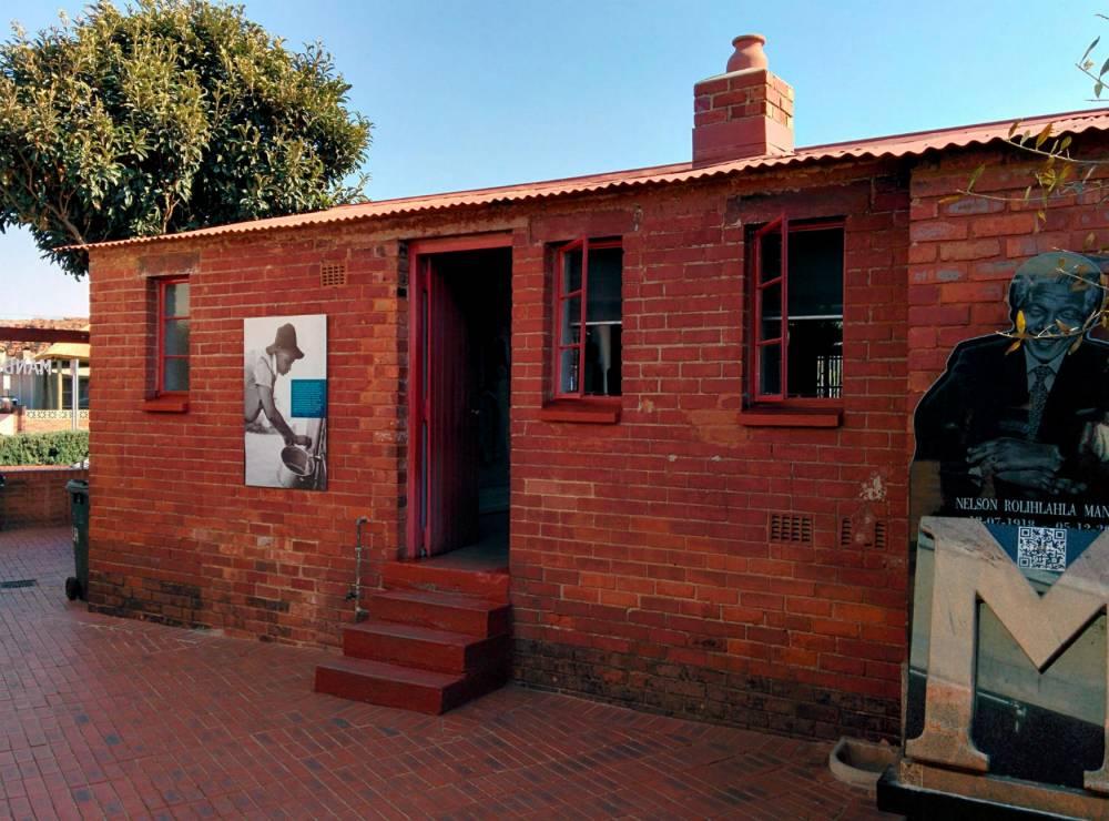L'arrière de la maison de Nelson Mandela à Soweto. ©  James Cridland