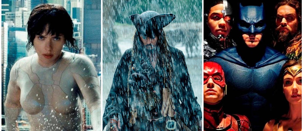 <p>Ghost in the Shell, Pirates des Cara&#239;bes 5 et Justice League.</p>