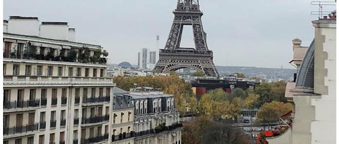 Vue de l'ancien duplex de la «panthère noire», sœur du shah d'Iran, situé au 31 avenue Montaigne à Paris