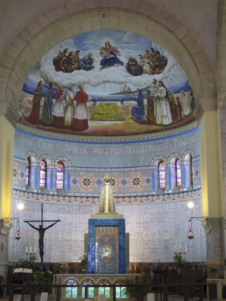 Vue de l'intérieur de la Cathédrale Notre-Dame d'Afrique à Alger.  ©  THIERRY GRUN / ONLY WORLD / ONLY FRANCE
