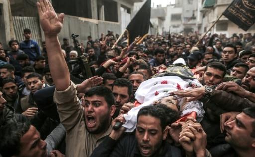 Funérailles le 24 décembre 2017 à Gaza d'un homme décédé après été blessé dans des heurts avec l'armée israélienne © MAHMUD HAMS AFP