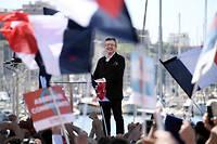 Jean-Luc Mélenchon en meeting à Marseille, le 9 avril 2017.  ©