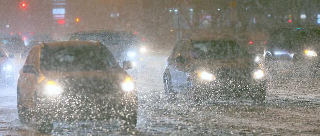 Les chutes de neige sont importantes en Amérique du Nord. Image d'illustration.