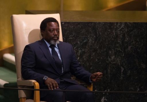 Le président de la République démocratique du Congo (RDC), Joseph Kabila, le 23 septembre 2017 au siège de l'ONU à New York © Bryan R. Smith AFP
