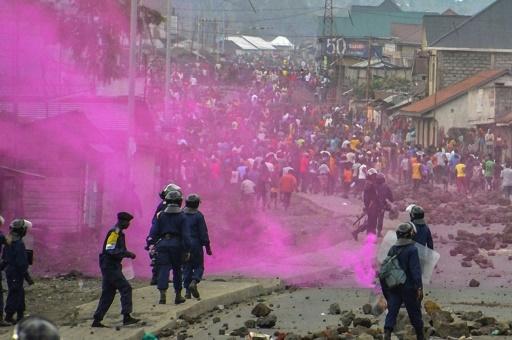 Heurts entre manifestants et forces de l'ordre, le 19 septembre 2016 à Goma, en RDC © Mustafa MULOPWE AFP/Archives