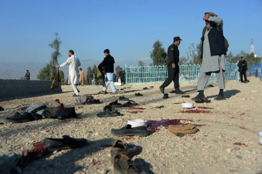 Sur les lieux de l'attentat, le 31 décembre © NOORULLAH SHIRZADA AFP