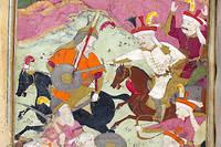 Le chah Ismaïl à la bataille deTchaldiran. Miniature, XVIIesiècle.   ©AKG-images / British Library