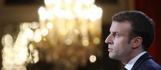 Emmanuel Macron lors de ses vœux à la presse le 3 janvier 2017.  ©LUDOVIC MARIN