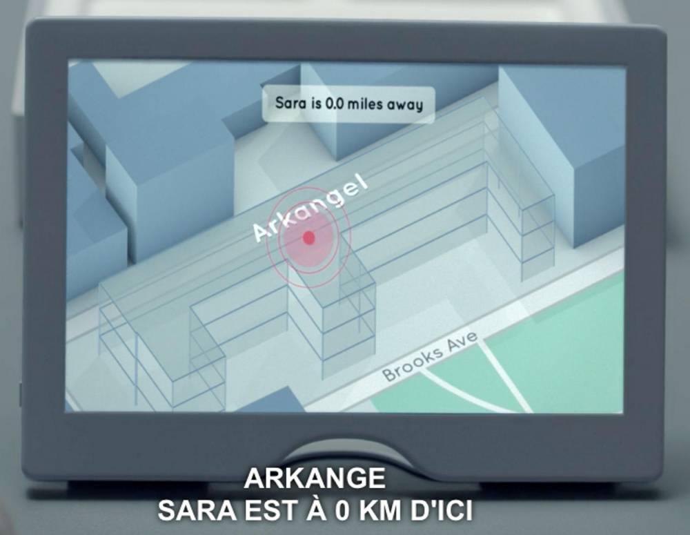 La tablette Arkangel, firme fictive de surveillance dans l'épisode 2 de la saison 4 de Black Mirror.  ©  Netflix