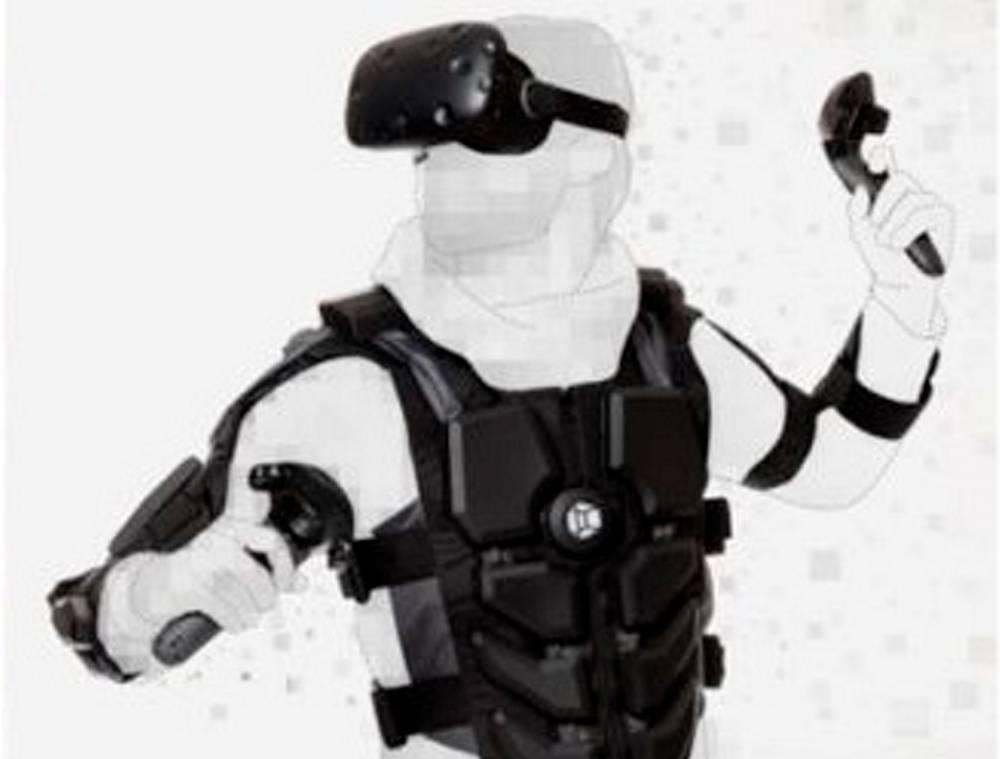 Hardlight VR, veste simulant des sensations physiques, par la société NullSpace ©   NullSpace VR