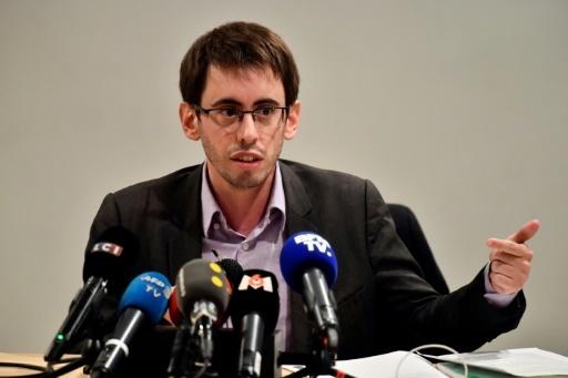 Quentin Guillemain, président de l'association des familles de victimes du lait contaminé, le 12 janvier 2018 à Paris © CHRISTOPHE SIMON AFP
