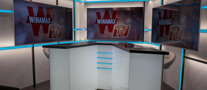 Le plateau de Winamax TV.  ©LAURENT CLEMENT