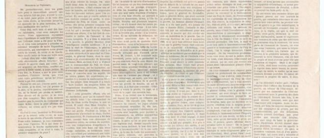 Le 13 janvier 1898, le journal «L'Aurore»publie en une une lettre d'Émile Zola adressée au président de la République intitulée «J'accuse ... !».