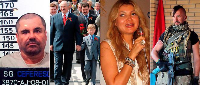Le narcotrafiquant El Chapo, le petit Nikolaï Loukachenko, la fille du dictateur ouzbek Gulnara Karimova et le chanteur d'opéra Vassyl Slipak, d'étonnantes figures internationales.