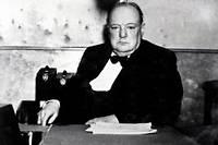 Winston Churchill photographié en octobre 1939, alors Premier Lord de l'amirauté en Grande-Bretagne.