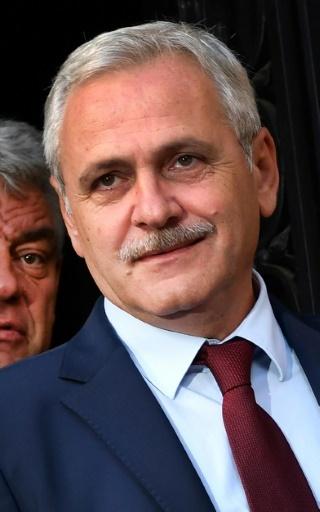 Liviu Dragnea, le 10 octobre 2017 à Bucarest © DANIEL MIHAILESCU AFP/Archives