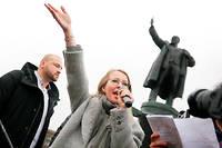 Engagée. Ksenia Sobtchak lors d'un rassemblement en faveur de l'éducation etde l'Université européenne, à Saint-Pétersbourg, le 11novembre 2017.  ©Tass/ABACA