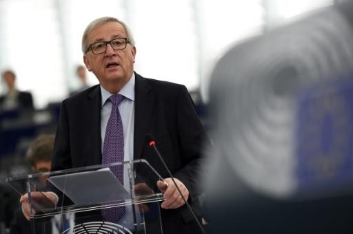 Le président de la Commission européenne Jean-Claude Juncker pendant un débat au Parlement européen, à Strasbourg, le 16 janvier 2018 © FREDERICK FLORIN AFP/Archives