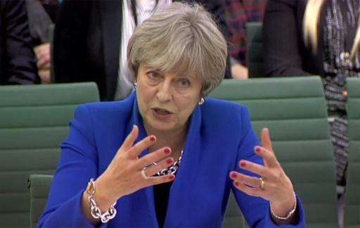 La Première ministre Theresa May au Parlement britannique, à Londres, le 20 décembre 2017 © HO PRU/AFP/Archives