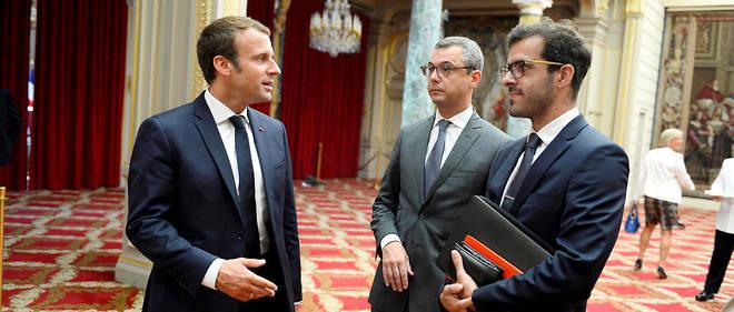Premier cercle. Ismaël Emelien (à droite, ici, le 28 août 2017), 30ans, est, avec Alexis Kohler, 45ans, secrétaire général de l'Élysée, le plus proche conseiller du président.
