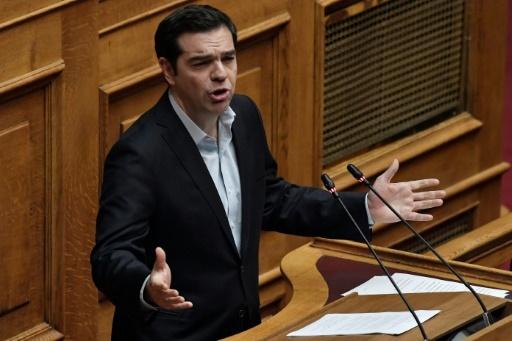 Le Premier ministre grec Alexis Tsipras à Athènes le 15 janvier 2018 © LOUISA GOULIAMAKI  AFP/Archives